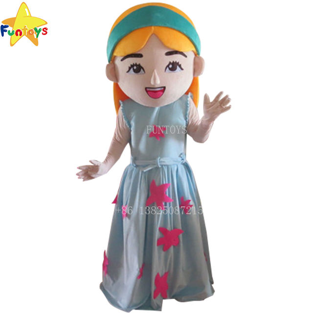 Funtoys CE Lovely Adult Cartoon Southeast Asia Singapore Skirt Girl Mascot Costume For Advertising