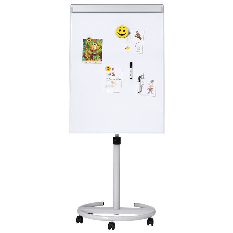 Mobile Magnetic Dry Erase Whiteboard Display Easel Bulletin Board with Five Wheels for Home Office School