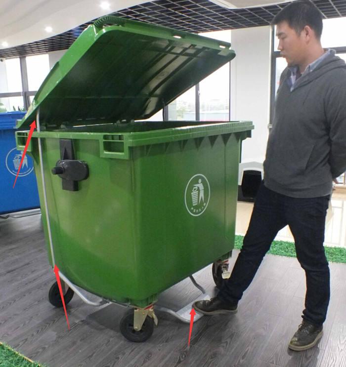 New nhựa chân pedal thải bin nhựa bụi bin và wastebin