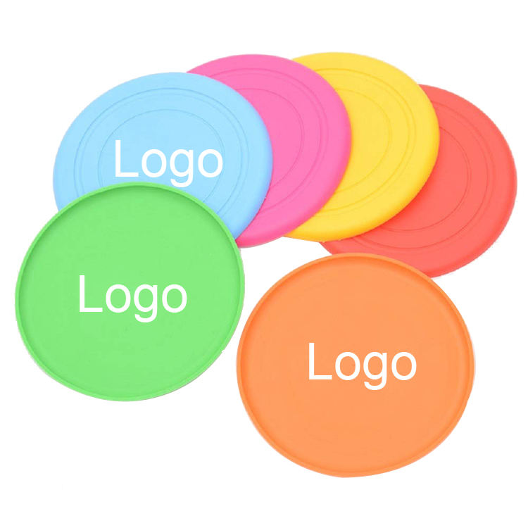 Wholesale Custom Logo Professional Printed Foldable Folding Toy Assorted Colors silicon flying disc