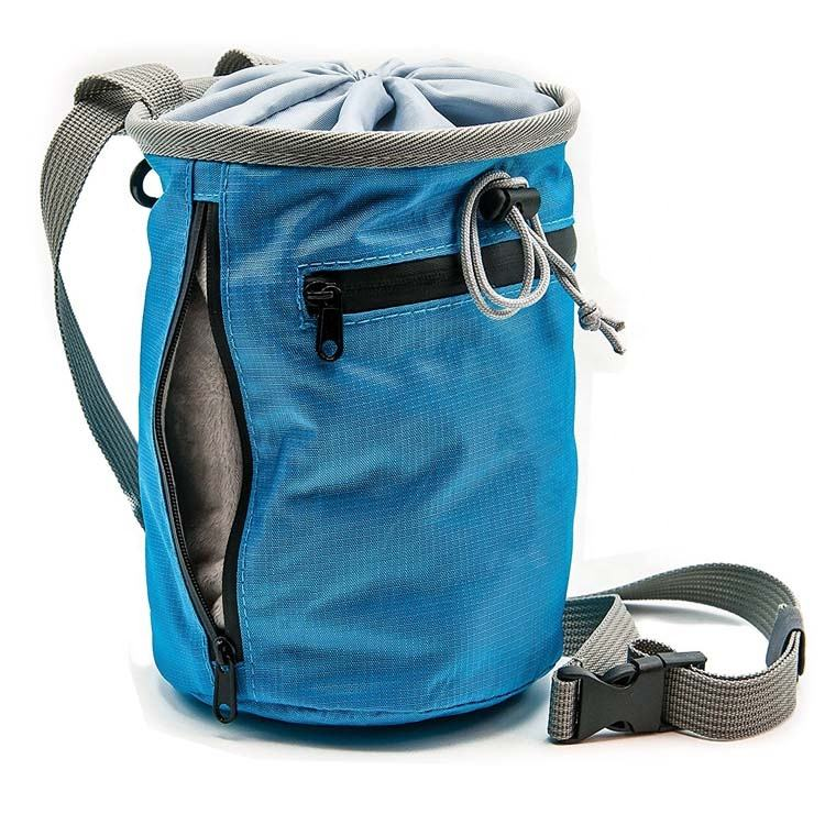 waterproof outdoor rock climbing nylon Chalk Bag oem with Belt and Zippered Pocket