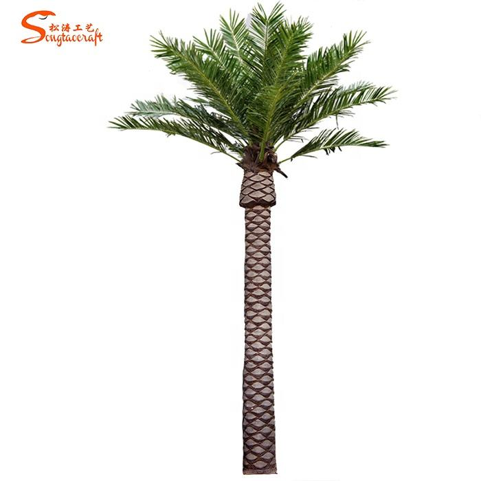Customized large 8m height artificial canary algae coconut palm tree for outdoor decoration