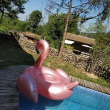 Pool float inflatable rose gold Flamingo plastic inflatable giant pool toys