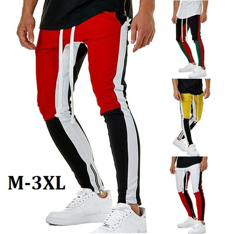 wholesale brand name of mens slim fit track pants