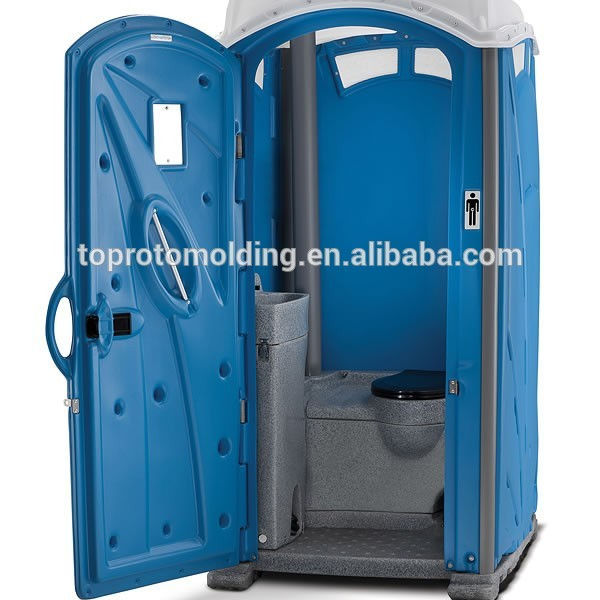 Toilettes portables en moulage par injection, pour location