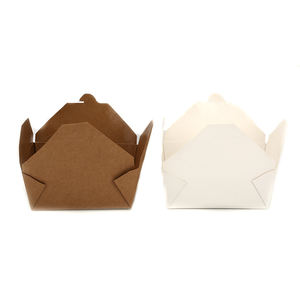 Take Away Food Packing Box Biodegradable Lunch Box Disposable Kraft Paper Box
