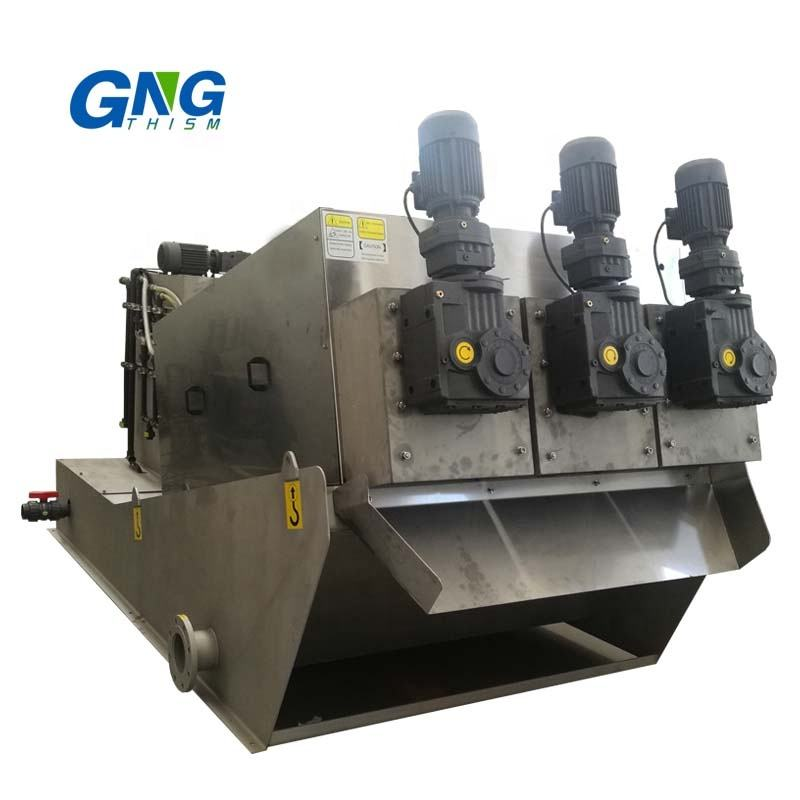Wastewater treatment sewage sludge dewatering unit