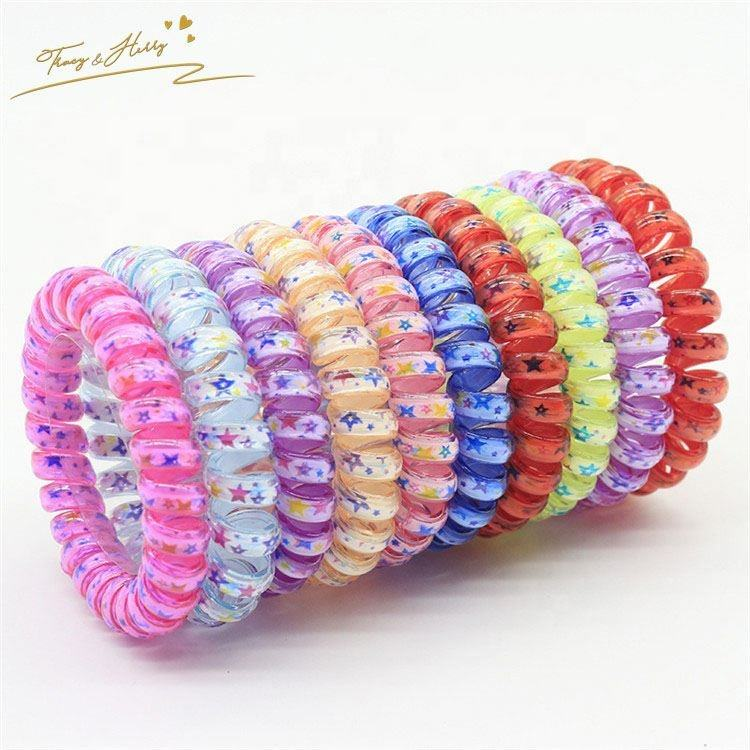 High quality crystal hair rope reversible plastic hair band