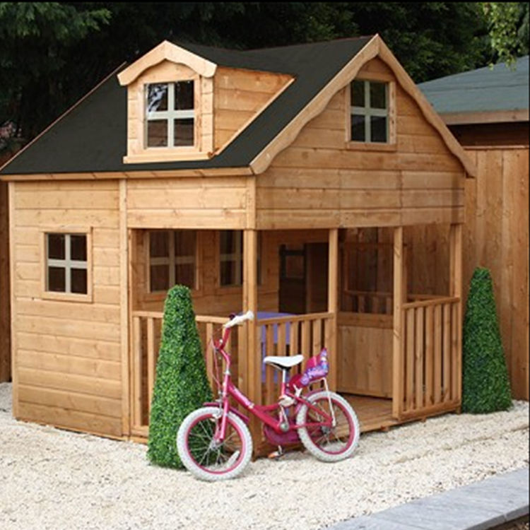 Custom design kids small wooden decorative children playhouse