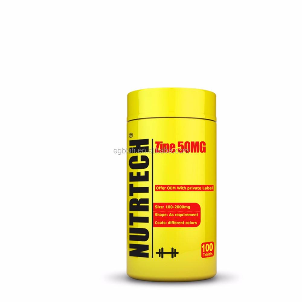 Mineral Suplemento Comprimidos de 50 <span class=keywords><strong>mg</strong></span> de Zinco Para As Crianças Alimentos Grau, Comprimido Para Mastigar de zinco