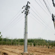 High quality galvanized power transmission lines steel pole tower