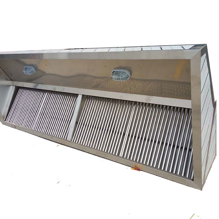 Good quality brush surface kitchen industrial exhaust hood