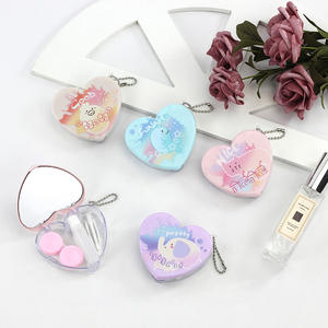 Easy Carry Eyes Kit Holder Container Heart Shape Contact Lens Case