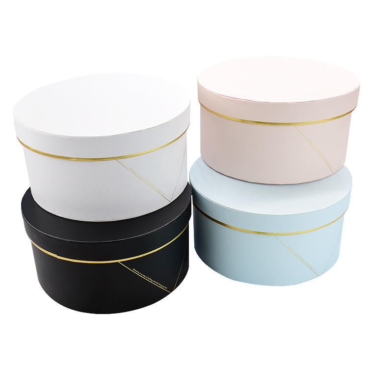 Luxury cylinder printed round paper box for cosmetic perfume packing wedding