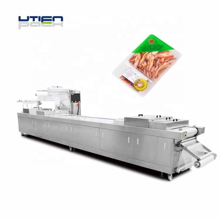 2000 pks per hour vacuum MAP packaging machine for preserved meat,cooked food