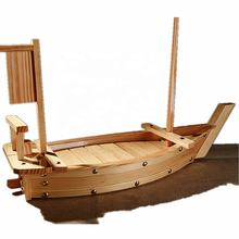 2019 Hot Sale Japanese Restaurant Reusable Sushi Boat Plate Bamboo/Wood Boat for Sushi
