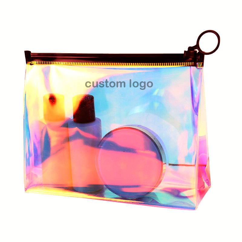 2020 Hot Sale Elegant Women TPU PVC Laser Holographic Cosmetic Bag For Summer