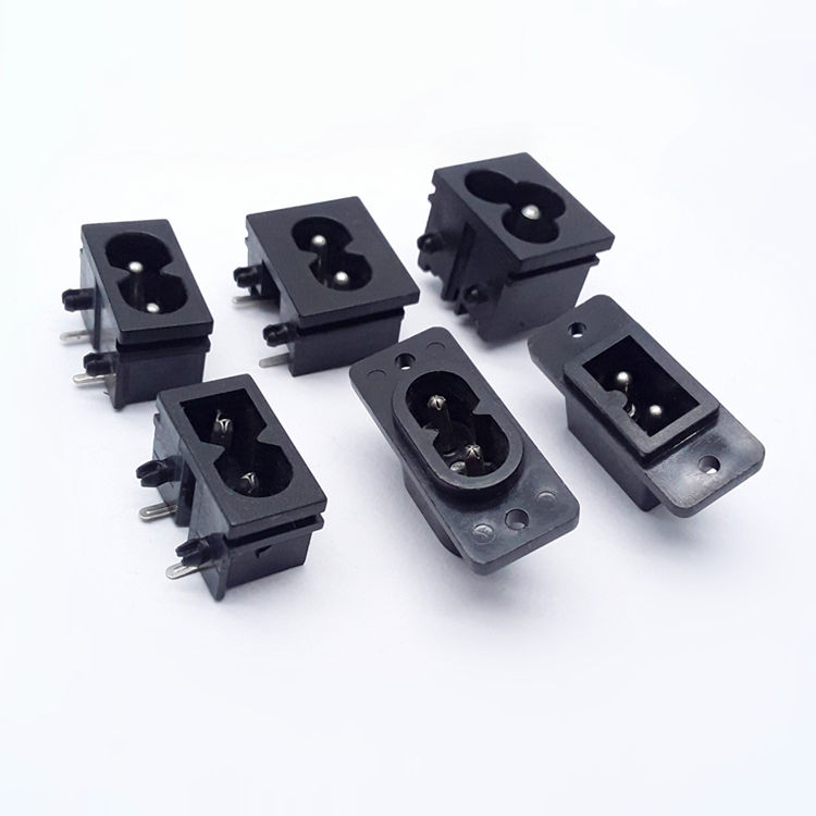 Top quality industrial electrical 2 pin male C8 power small socket iec c8 power connector