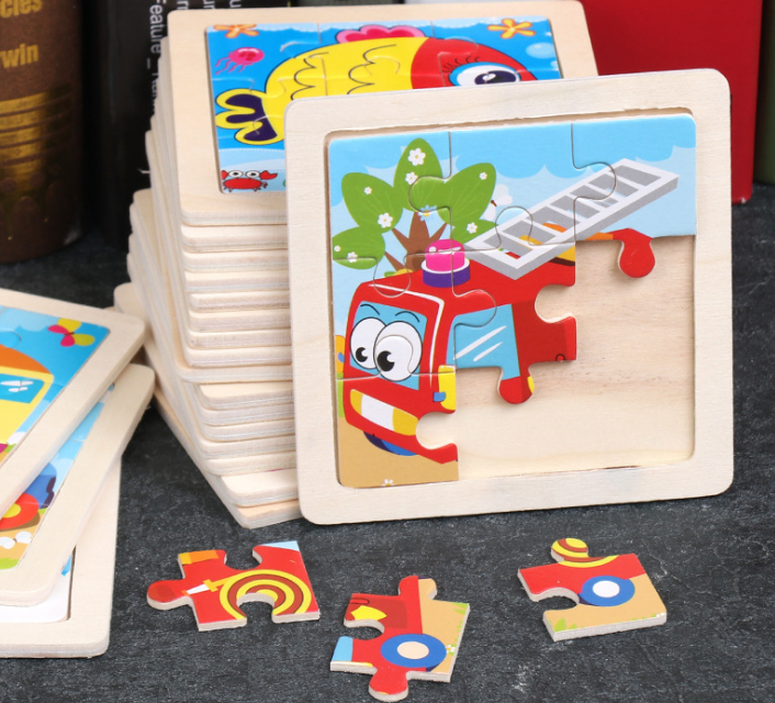 Wooden Puzzles for Toddlers- Baby Puzzles Age 3+ Toddlers Puzzles for Kids Boys and Girls - Pets Car Set
