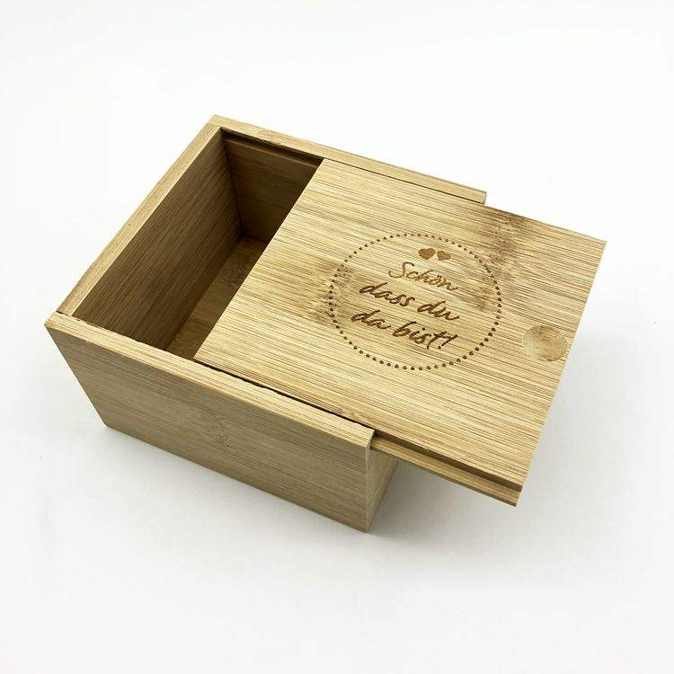 Custom Small Storage Bamboo Material Gift Jewelry Wooden Box