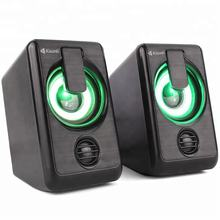Best Selling Mini Stereo Music 2.0 USB Speaker With Colors LED Light For Laptop