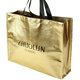 China Supplier custom printing gold metallic non woven shopping tote bag reusable shopping bags