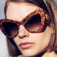 Vintage Red Designer Womens Sunglasses Vintage Chic Flower Pattern Red Cat-eye Woman Sunglasses