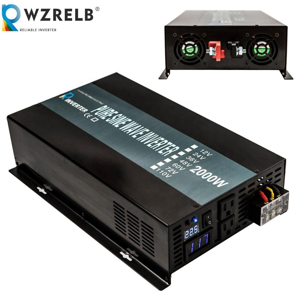 2000w 2kw 24V DC to 220V AC Single Phase Pure Sine Wave Inverter with LED Display