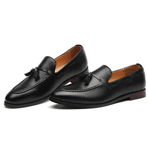 PDEP pu leather dress big size37-48 men tassel handmade slip on office oxford casual formal driving loafers business shoes