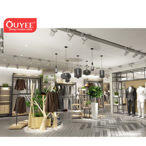 China Factory Retail Garment Shop Interior Design Rack Display Clothing Store Ladies Clothes Shop Design