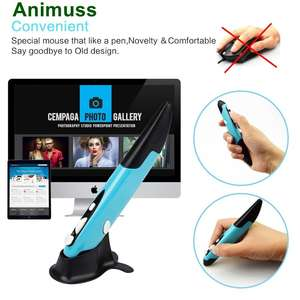 Animuss 2,4 GHz Wireless Optical Pen Maus Lcyyo Einstellbare 800 1200 1600 DPI USB Optical Pen Maus mit Stift Stand für PC Computer
