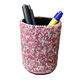 Blingchic Leather Office Pencils Holder Bling Round Pen Cup Remote Desk Accessories Organizer Desktop Stationery Container Box