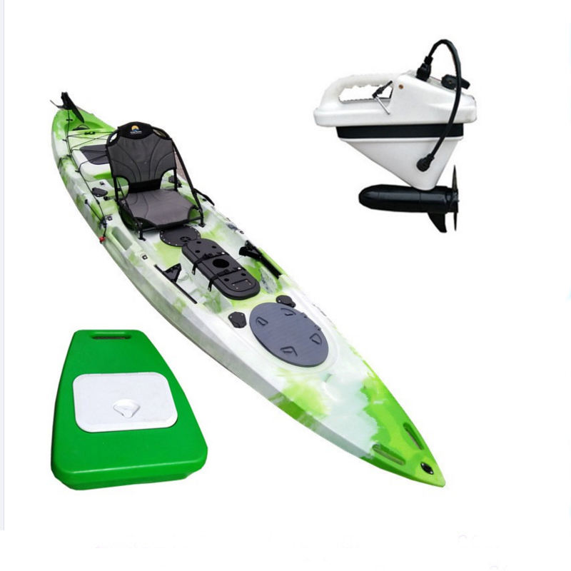 high quality professional new best fishing motorized inside electric motor kayak