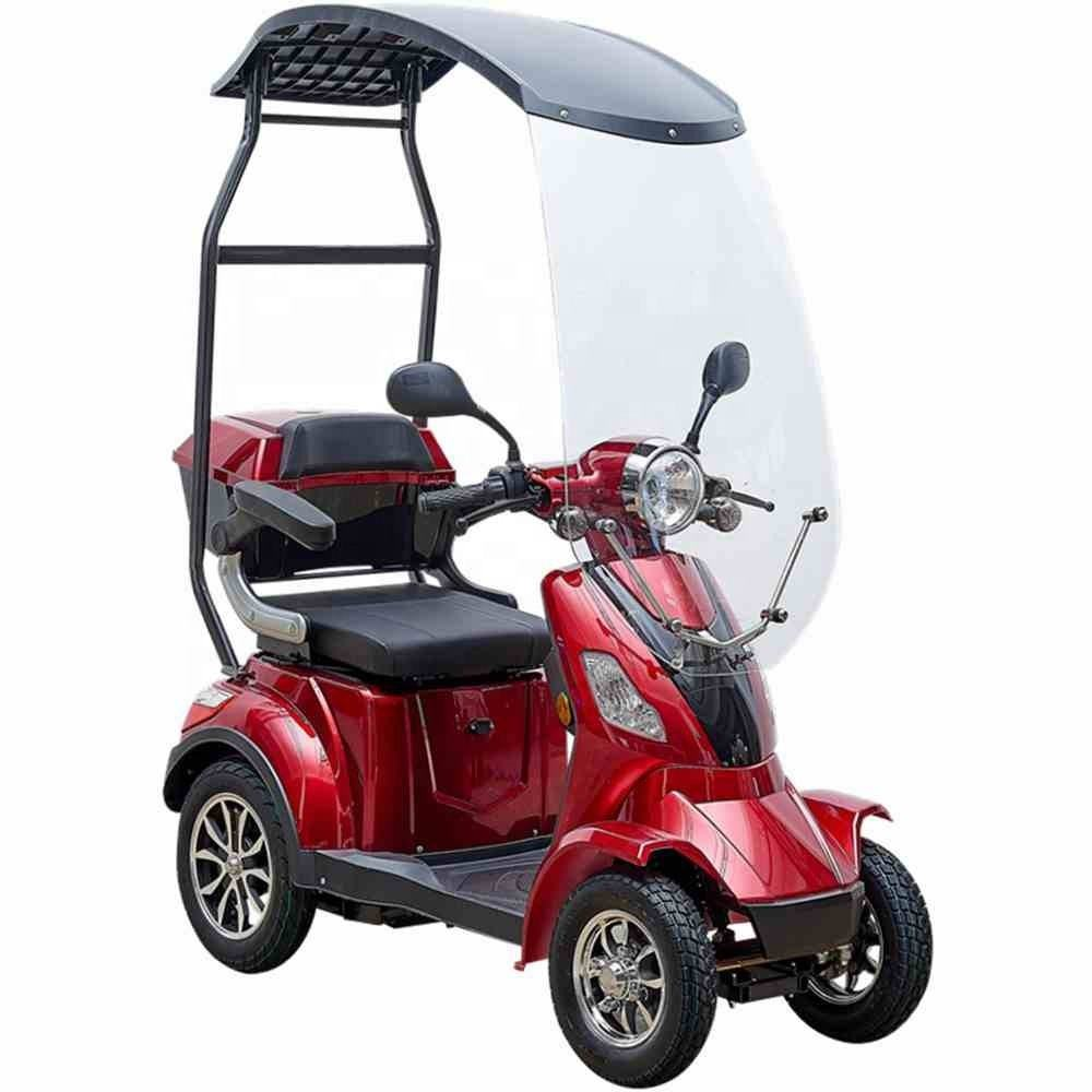 Heavy duty Pride 4 wheel electric scooter 60V 1000W travel scooter with roof for elderly or disabled