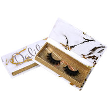 Wholesale private label custom 3d high quality mink lashes fake eyelashes empty box packing false 25 mm eyelashes