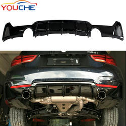 ABS material diffuser Dual tips rear bumper diffuser for BMW 4 series F32 F33 F36 M sport 2014-2019