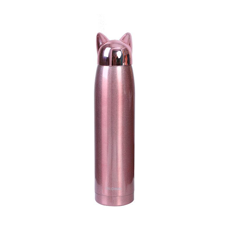 amazon hot 2020 tea mug termos de agua metal cute pet rose gold thermos cup