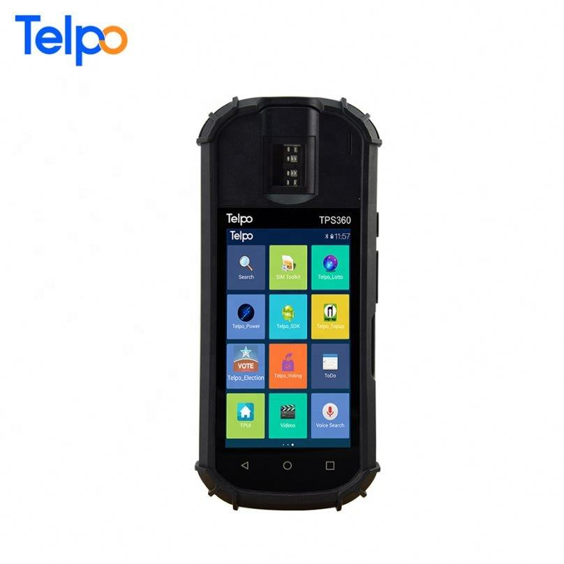 Telpo TPS360 high quality 5 inch touch screen android terminal with fingerprint scanner big capacity battery for Identify