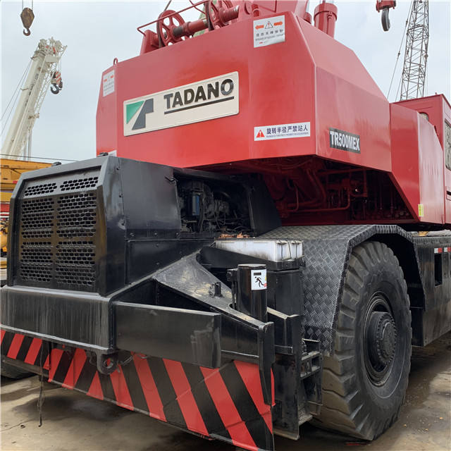 Used rough crane Tadano 50t, cheap rough terrian crane Kato TR500E for sale truck with crane