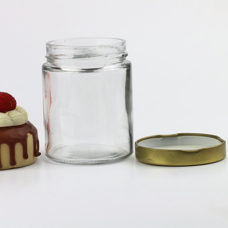 wide mouth round food honey jam drink glass canning jar cup bottle for food