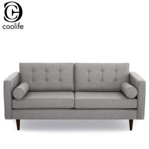 Мебель для дома классический американский новый стиль серый ткань обивка три местный диван