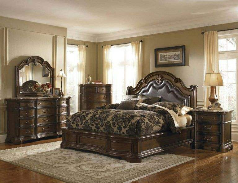 Classic King Size Bedroom Set European Style Hot Sell Royal Luxury Bedroom Furniture 5070