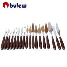 Stainless Steel Wooden Handle Spatula Palette Painting knife For Oil Painting