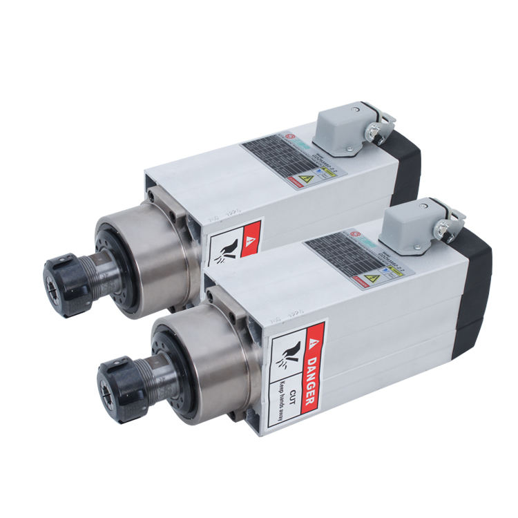 2.2kw 300Hz 18000rpm er25 square air cooled cnc spindle motor