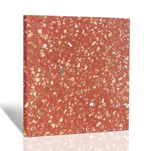 12x12 Terrazzo Floor Tile Red
