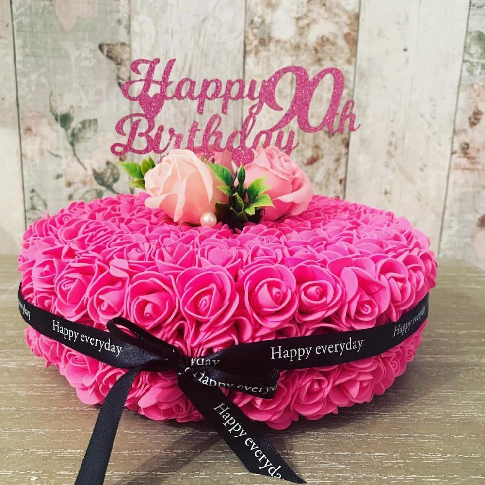 Brilliant Artificial Flower Rose Birthday Cake Mold Decoration With Pe Soap Personalised Birthday Cards Veneteletsinfo