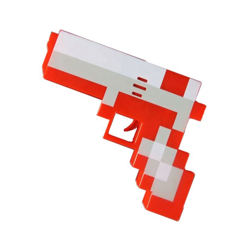 LED Pixel Gun Glowing Pixel Gun, Light Up Toy Gun Pixel Led Toy for Birthday Party Costume Party Halloween Party Favors Gifts