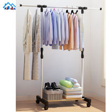 Good Supplier heavy duty clothes rail retail clothing rolling garment rack for sale