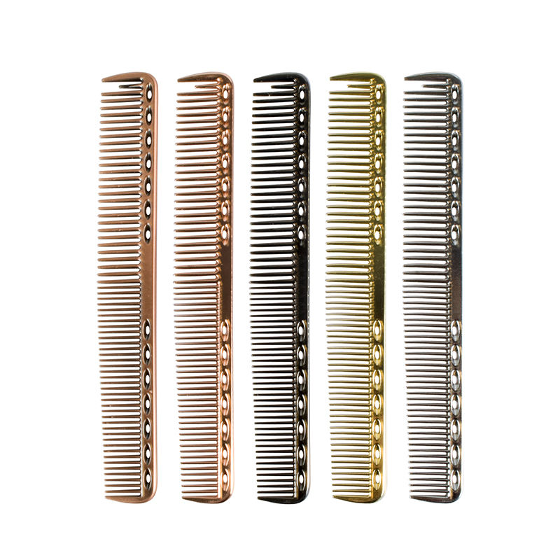 Barber Hairdressing Salon Accessories Anti Static Aluminum Hair Cutting Comb