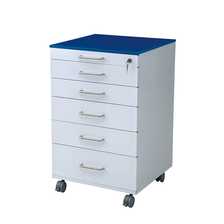 Modern Mobile Cabinet Cart 5 Drawers Dental clinic Stainless steel Mobile Rolling Assistant's Cart with Wheel Storage cabinet